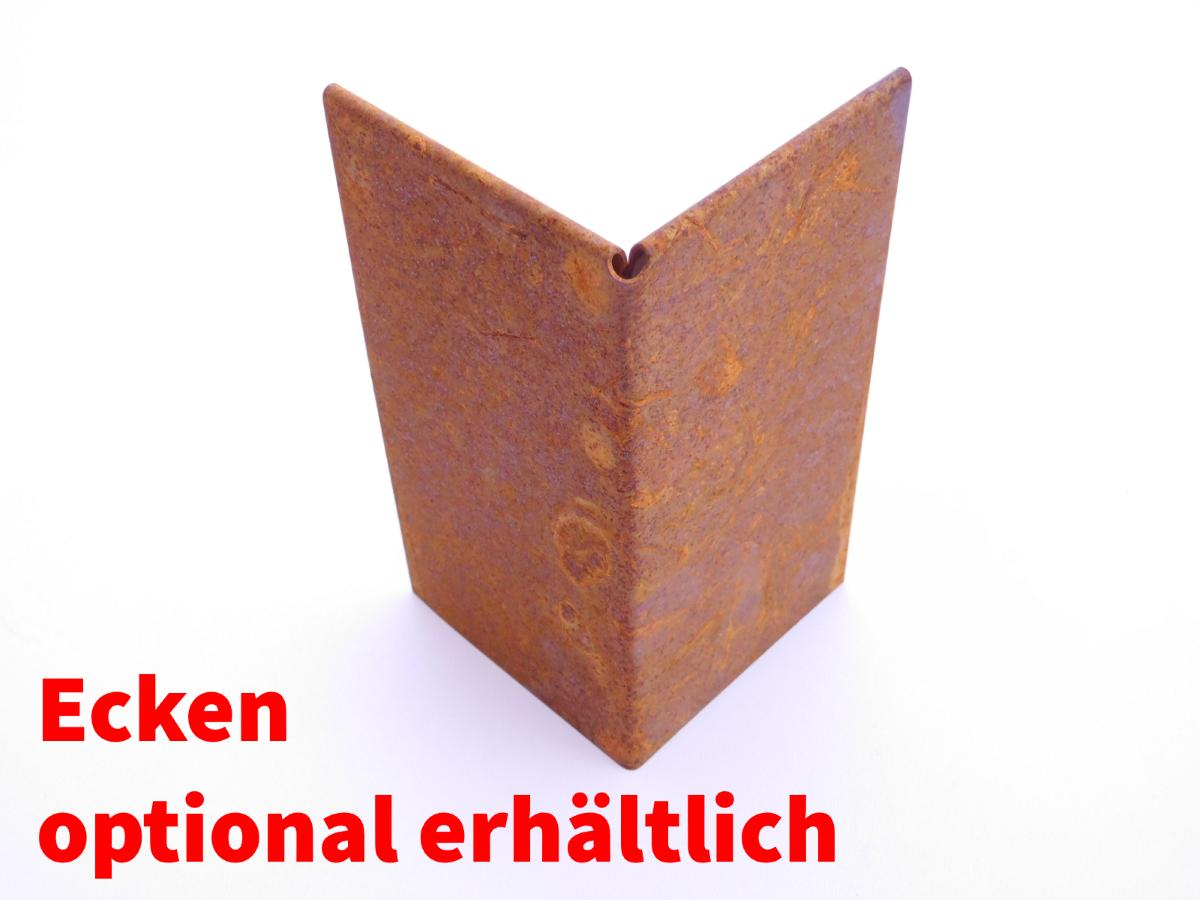 miniatuur 12 - IRKA Rasenkantenband Rasenkante Corten Stahl 15, 20 oder 25 cm hoch 1mm stark