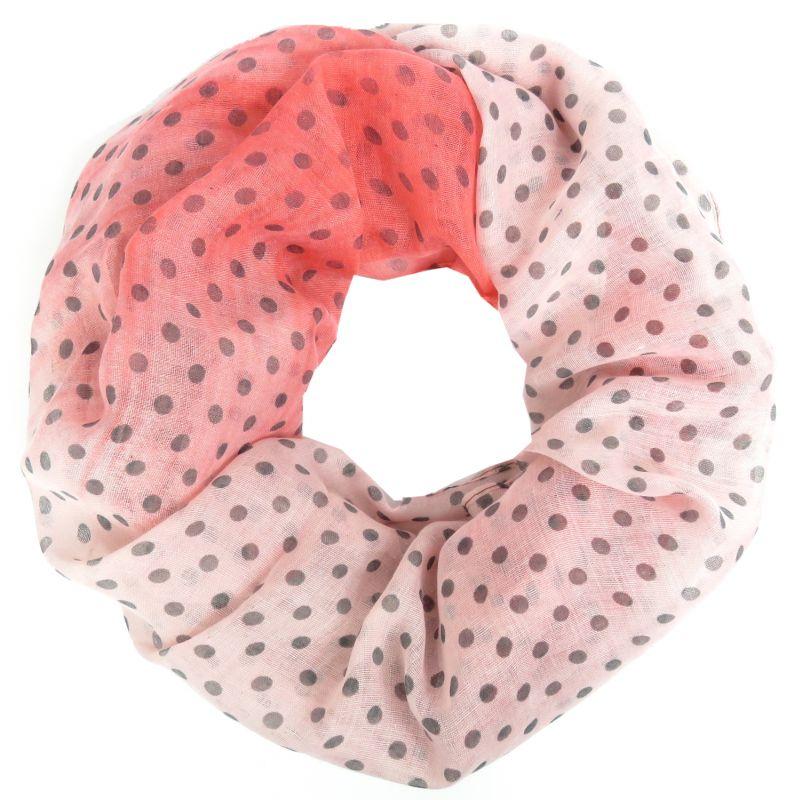 Retro Polka Dots Punkte Tuch Loop Farbverlauf bunt Damen Schal Rundschal