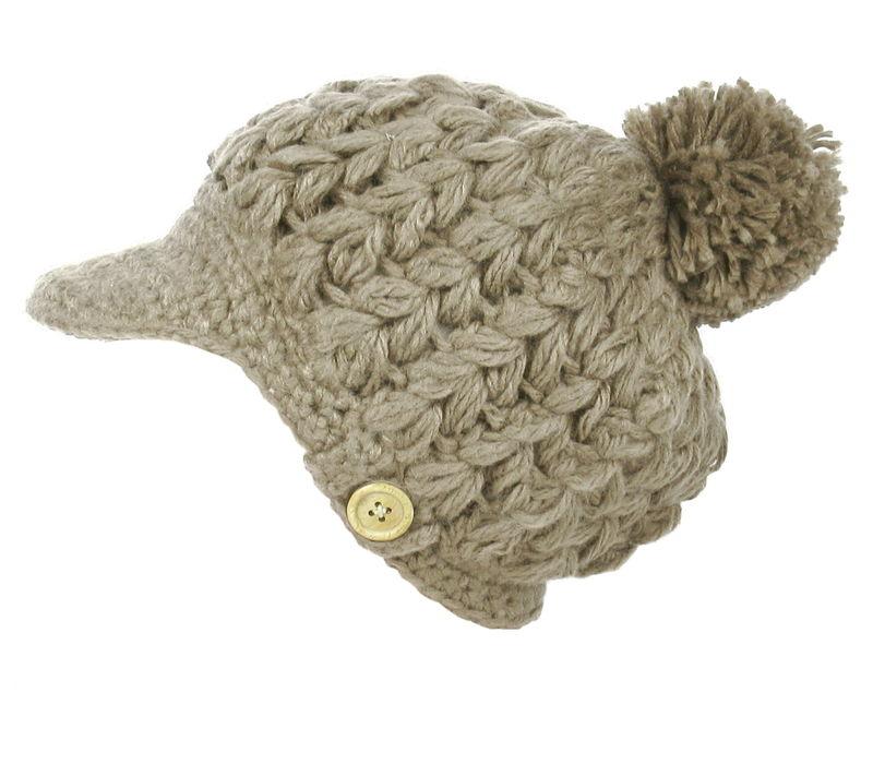 Strickmütze Wintermütze Ballonmütze Damenmütze Mütze mit Silberfäden Warm