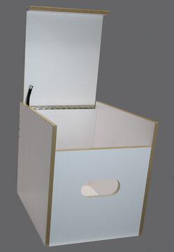 Polster Blau Stauraum Hock Toiletten Hocker Weiß mit Toilette Porta Potti 335