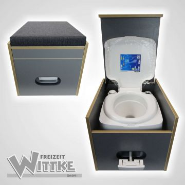 toiletten hocker porta potti 335 inkl polster schwarz ohne toilette ebay. Black Bedroom Furniture Sets. Home Design Ideas
