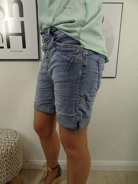mit dekor Damen Denim Shortsin klassischer Jeans Waschungkurze Jeans Hose