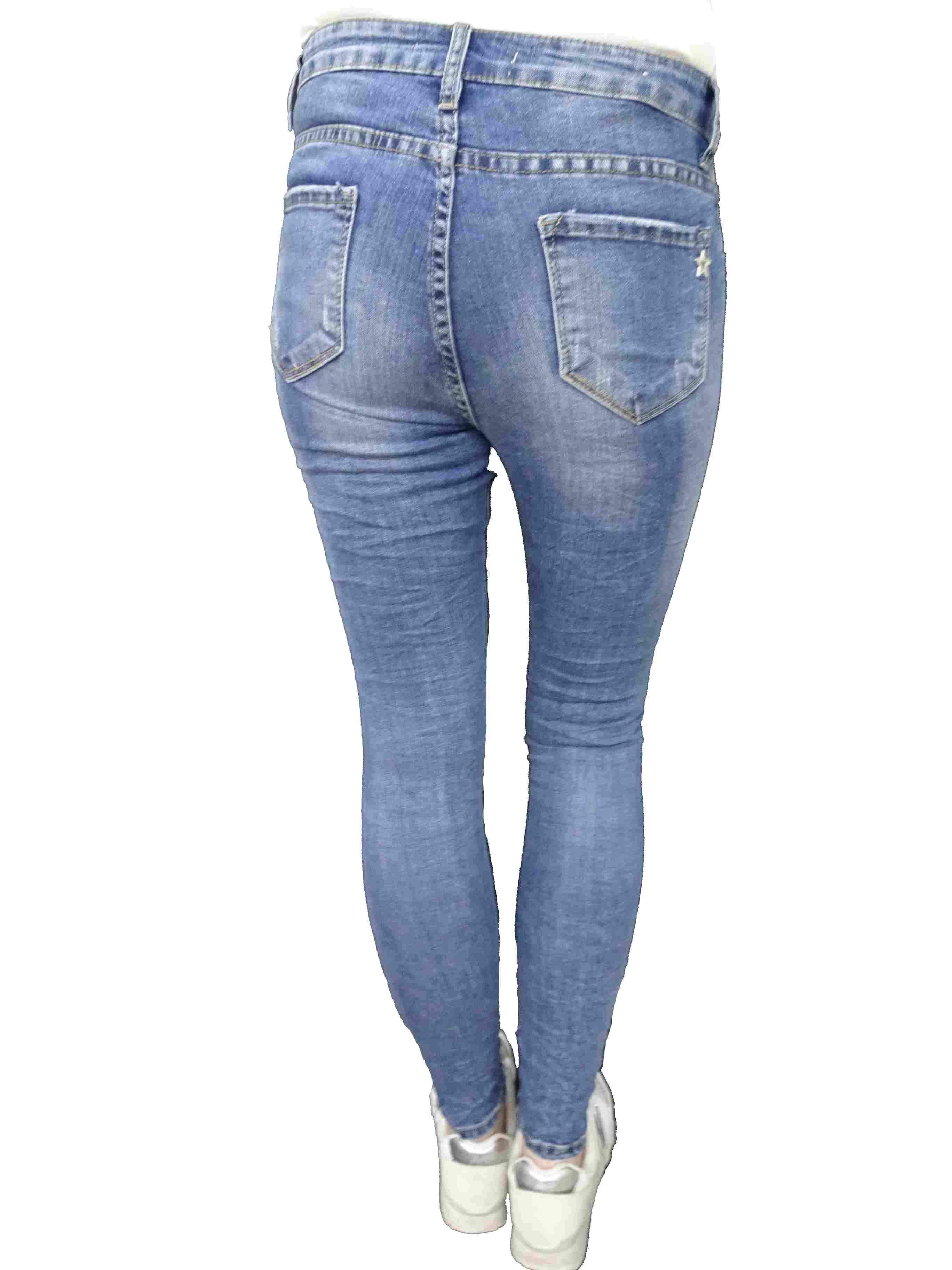 fb78179b68bd Lexxury Jewelly Baggy Boyfriend Damen Stretch Hose Jeans offene ...