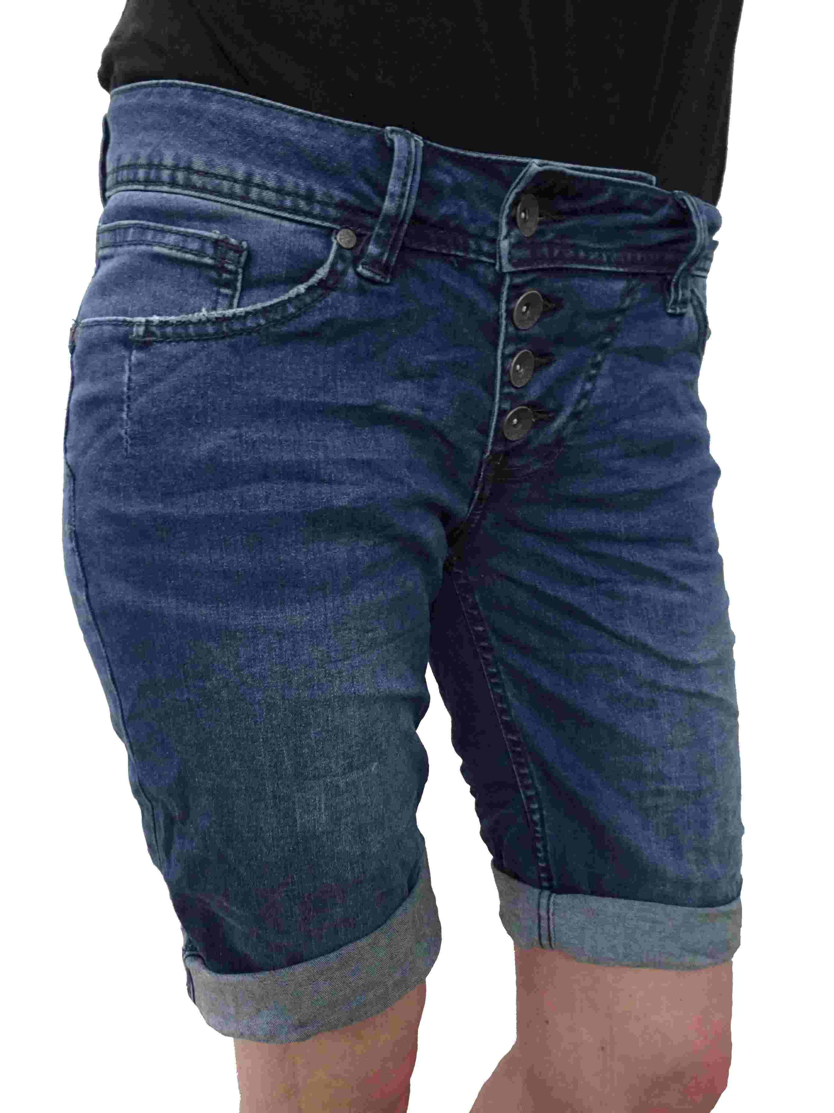Buena Vista Damen Stretch Jeans Shorts Bermuda Krempelhose Malibu