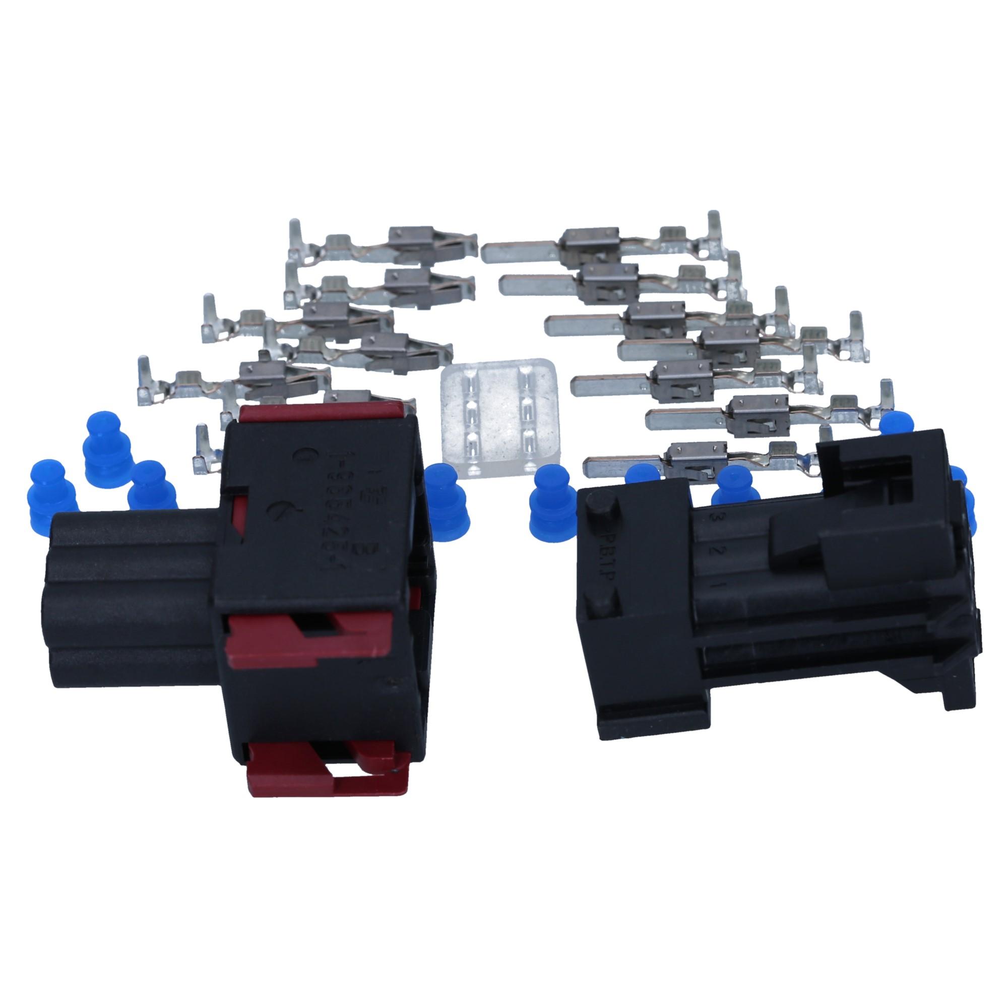 KALI-1306 AMP JPT Set 6-polig 0,5-1,0mm² Reperatursatz Stecker Satz Kfz Auto