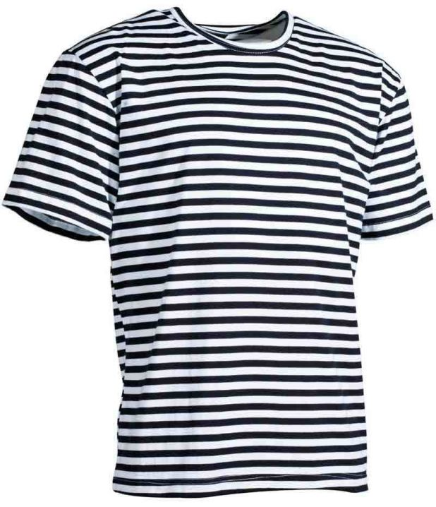 236781f969be3f Marine T-Shirt halbarm Telnjaschka Sommershirt Streifenshirt Ringelshirt