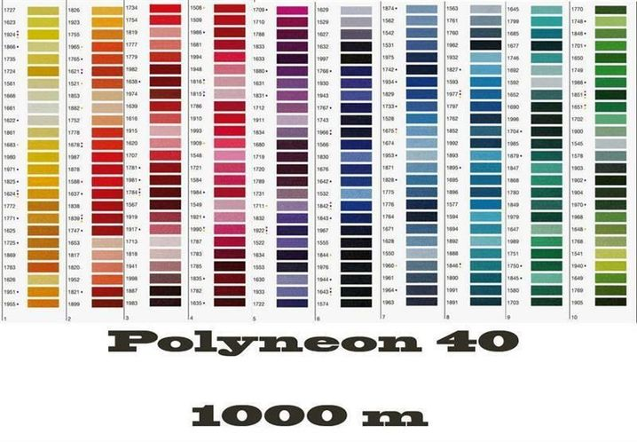 Madeira Machine Embroidery Thread Yarns Polyneon 40 1000 M Ebay