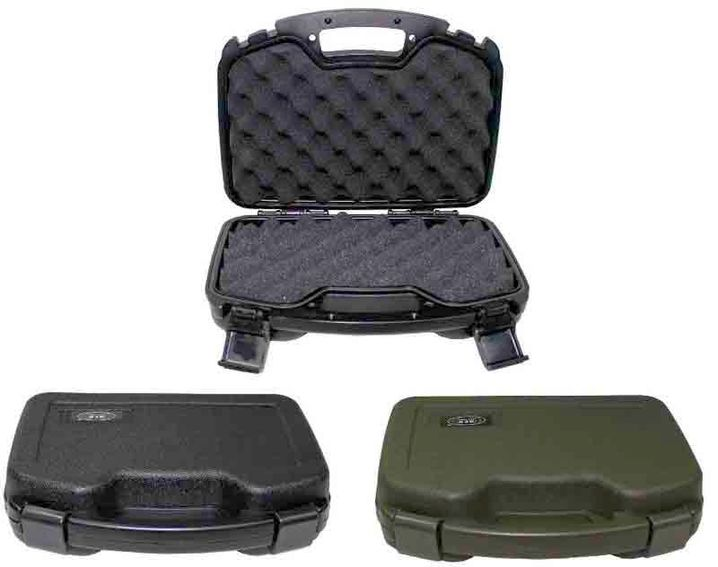 x 27 x 8,7 cm MFH Pistolen Koffer Kunststoff Koffer groß abschließbar oliv 33,5