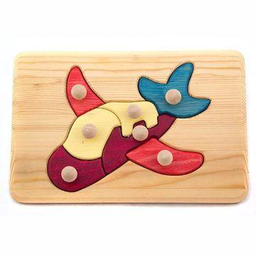 Holzspielzeug Holzpuzzle Flugzeug
