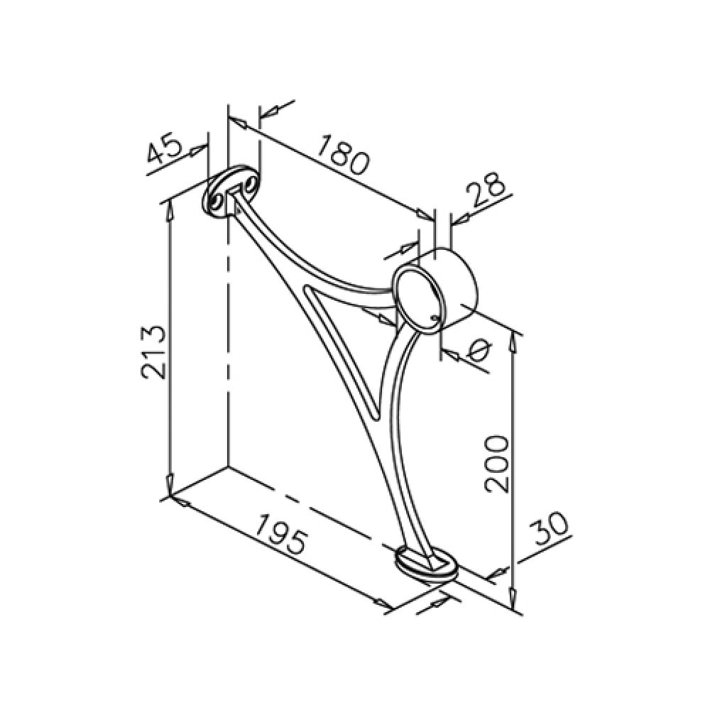 Fußlaufstütze für Rohr Ø 38,1 mm