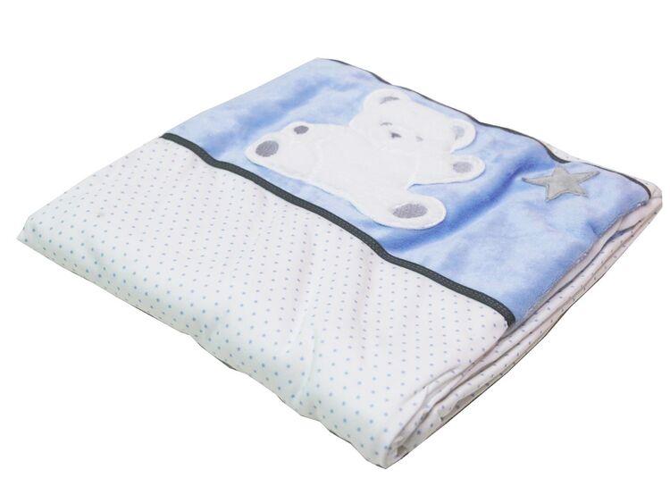Calin Caline 902.14 Kuscheldecke Bettdecke Babydecke 150 x100 cm Blau Teddybär