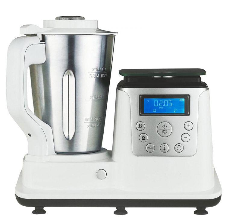 10 in 1 Thermo Multikocher Küchenmaschine 1350W Kochen Mixen Dampfgaren Weiß C
