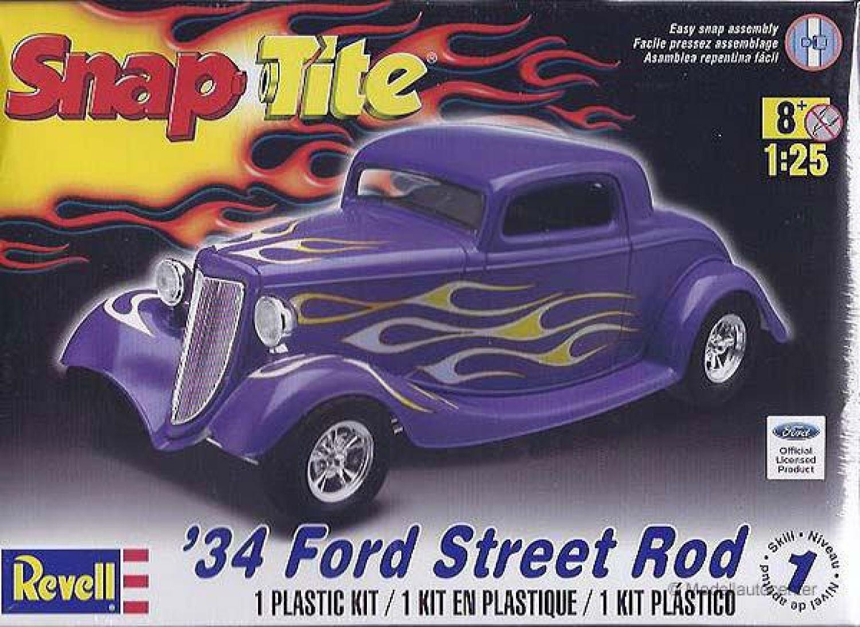 Ford Street Rod 1934, Snap Tite Kunststoffbausatz, Modellauto 1:25 ...