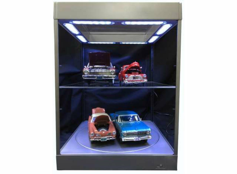 Triple9 Vitrine mit LED-Beleuchtung schwarz für Modellautos 5 LED-Lampen
