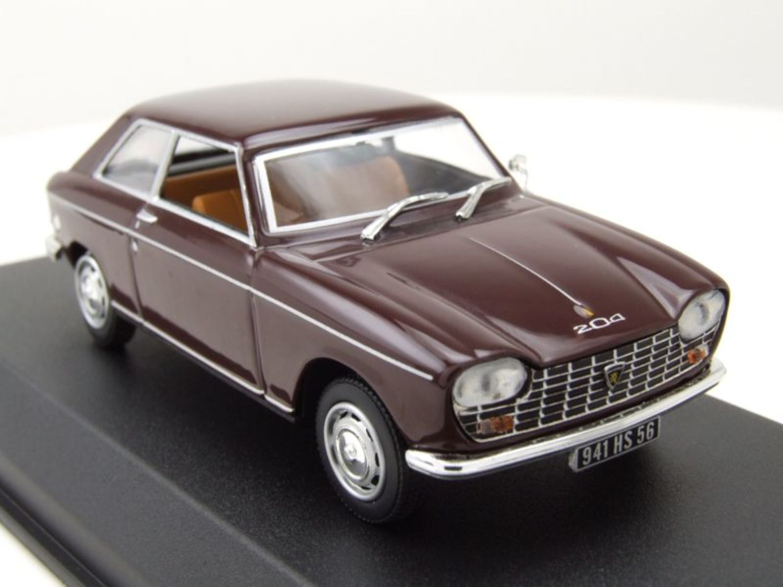 Norev 472403 Peugeot 204 Coupe bordeaux 1967 Maßstab 1:43 Modellauto NEU!°
