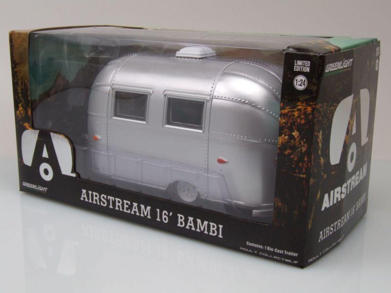 coche modelo 1:24//GreenLight Airstream Bambi caravanas cromo pulido