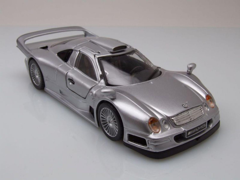 Mercedes clk-GTR streetversion plata maqueta de coche 1:18//maisto