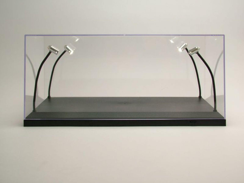Scatola trasparente vetrina con illuminazione led per