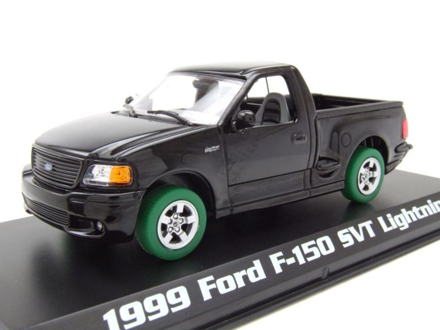 FORD f-150 Pick-up SVT Relámpago 1999 Negro, verde Machine, Coche ...