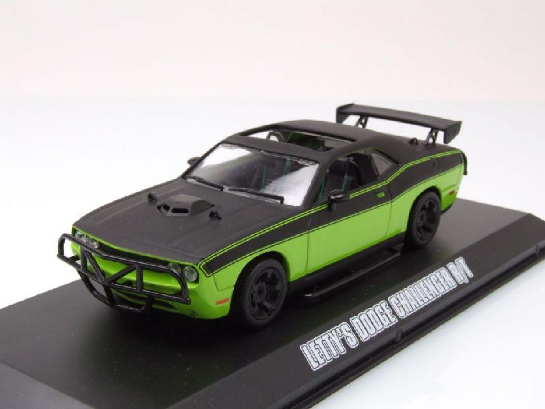 dodge challenger r t 2014 letty fast furious modellauto 1 43 greenlight ebay. Black Bedroom Furniture Sets. Home Design Ideas