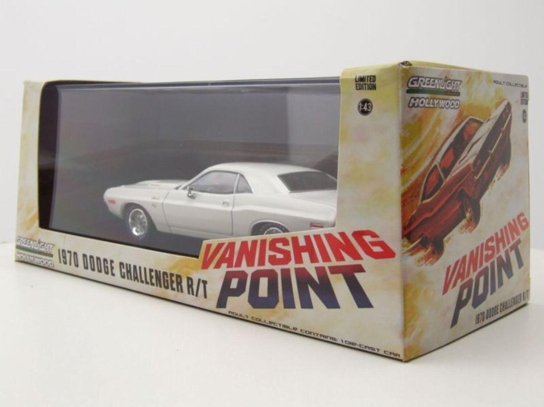 DODGE Challenger R//T 1970 Vanishing Point BIANCO MODELLO DI AUTO 1:18 Greenlight