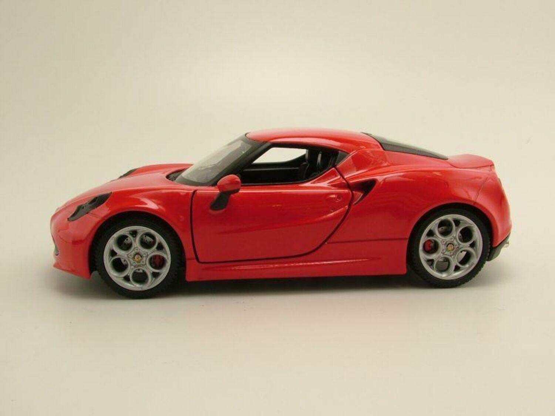 Welly Modello Auto 1:24 Alfa Romeo 4c 2013 Rosso