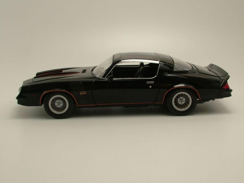 Chevrolet Camaro z//28 1978 negro maqueta de coche 1:18//GreenLight Collectibles
