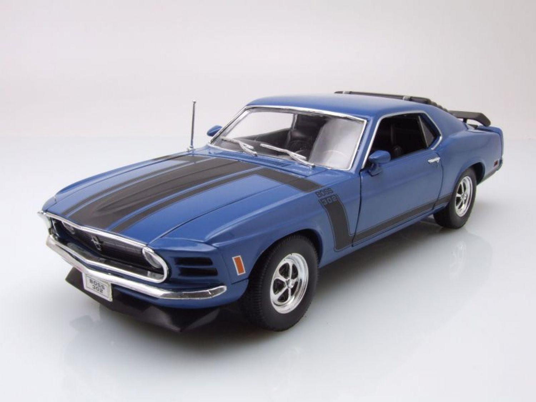 Ford Mustang Boss 302 1970 blau, Modellauto 1:18 / Welly | eBay