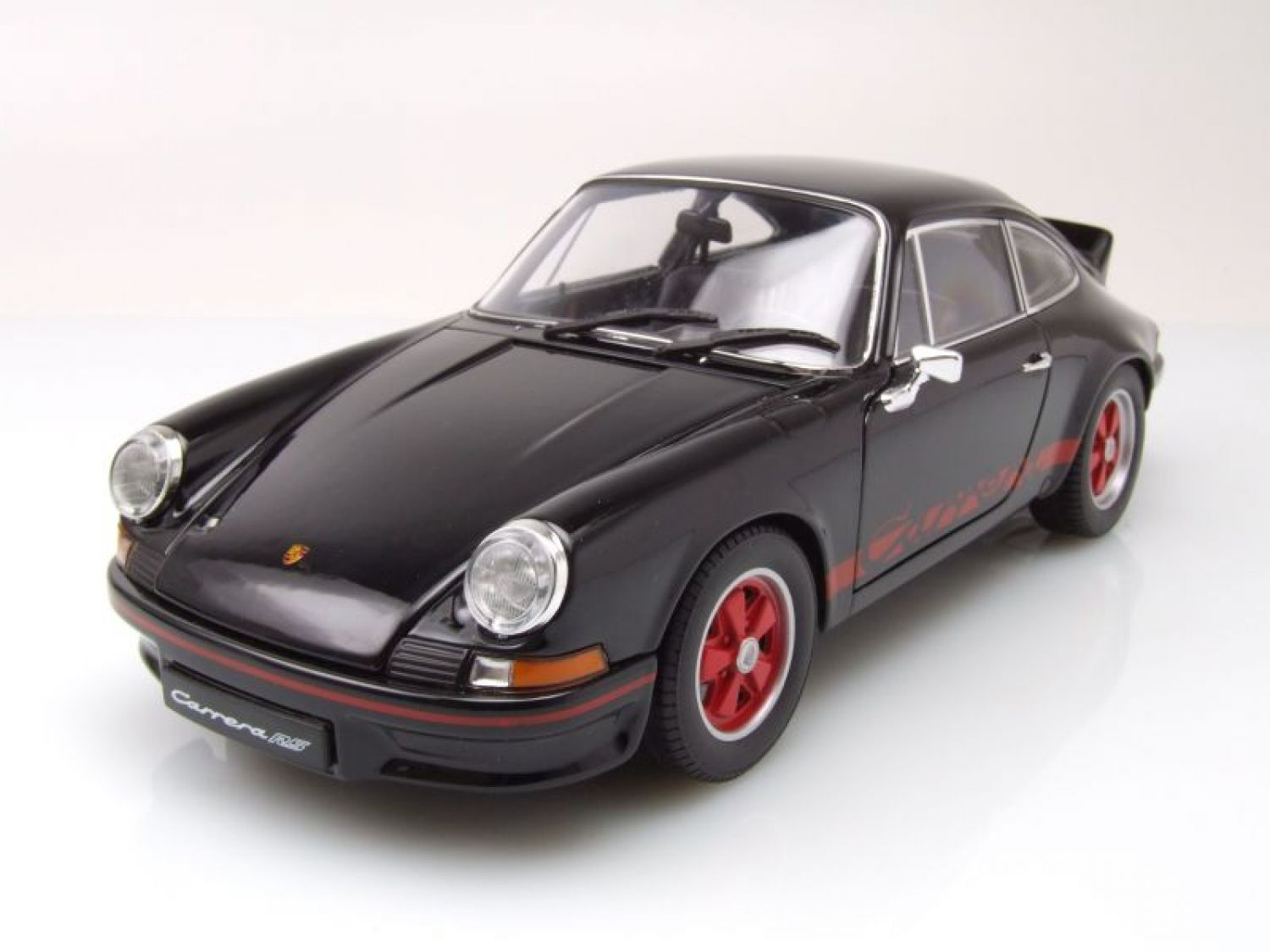 porsche 911 carrera rs 1973 schwarz modellauto 1 18. Black Bedroom Furniture Sets. Home Design Ideas