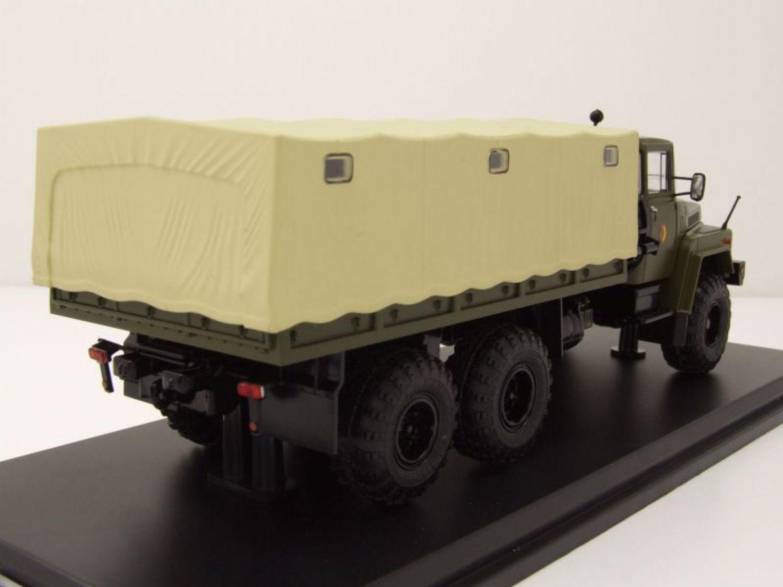 KrAZ 255 B1 Pritsche Plane NVA Militär olivgrün Modellauto 1:43 Premium ClassiXX