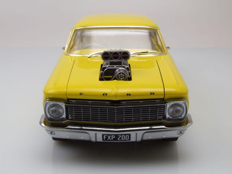 Ford Xp Falcon Drag Car Australiano 1964 Amarillo Coche Modelo 1 Gran Torino Del Arrastrar Australia 118 Greenlight Collectibles