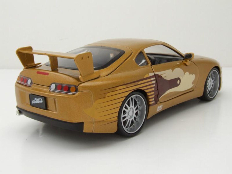 Toyota Supra 1995 gold metallic Slap Jack Fast /& Furious Modellauto 1:24 Jada