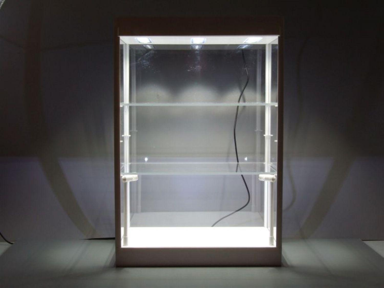 Vetrina con illuminazione led bianco per modellini auto lampade