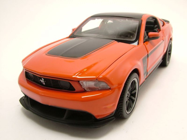 Ford Mustang Boss 302 orange/schwarz, Modellauto 1:24 / Maisto | eBay