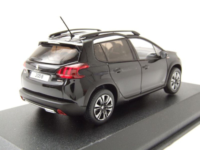° Norev 479849 peugeot 2008 GT line negro 2016 escala 1:43 coche modelo nuevo
