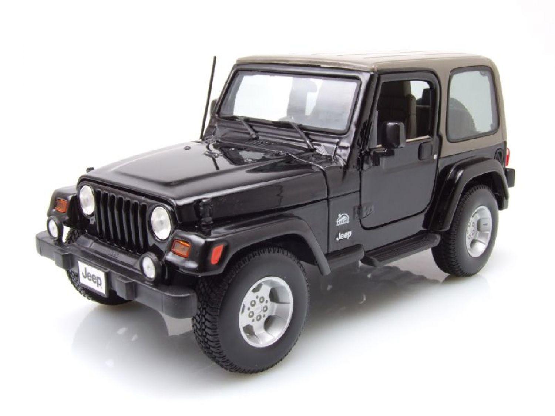 JEEP WRANGLER SAHARA (TJ) Nero, modello auto 1:18 / MAISTO   eBay
