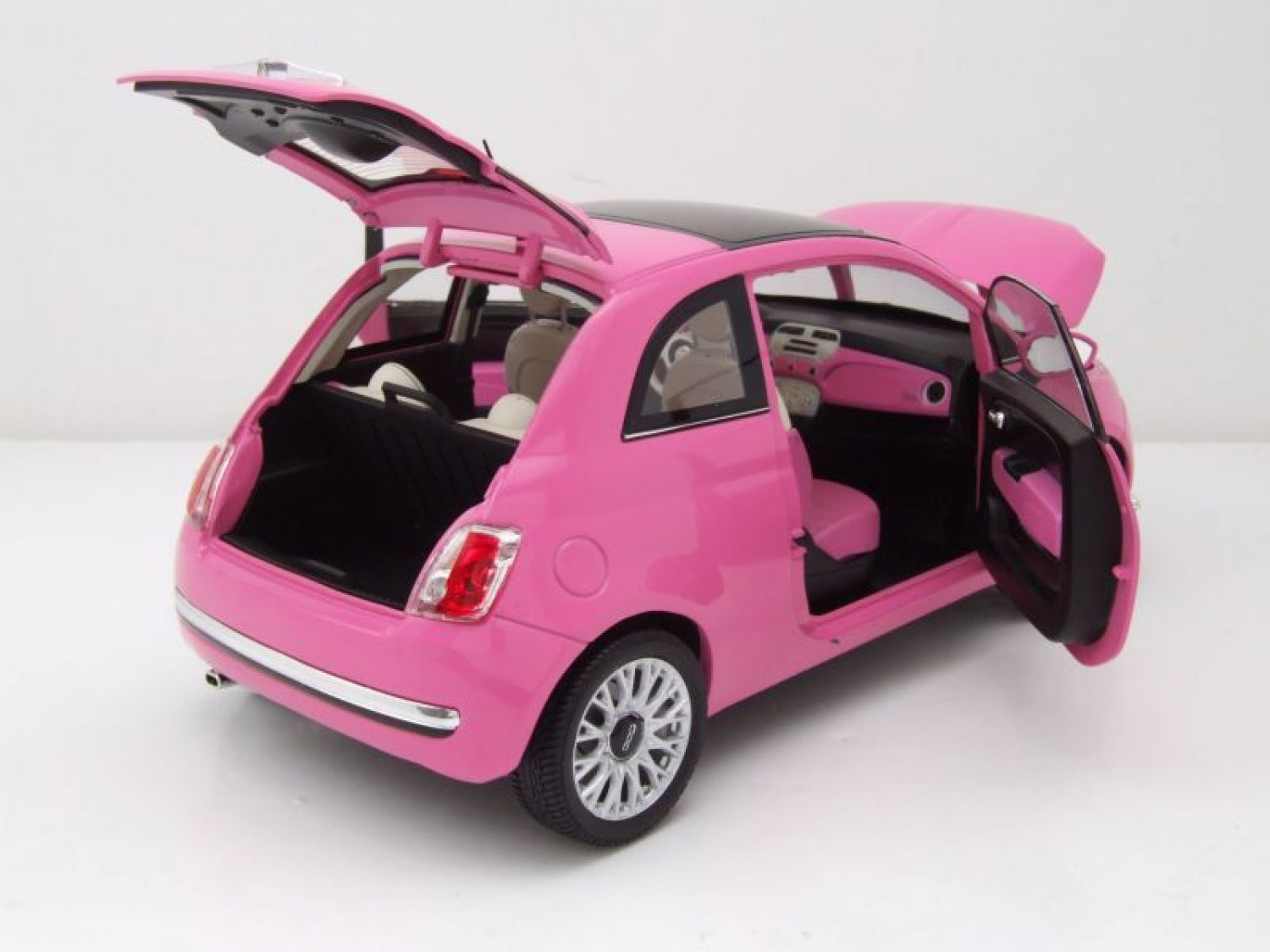 fiat 500 c 2010 rose mod le de voiture 1 18 norev ebay. Black Bedroom Furniture Sets. Home Design Ideas