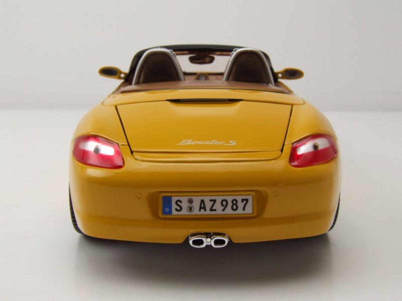 987 s año de construcción 2005 amarillo 1:18 maisto Porsche boxster