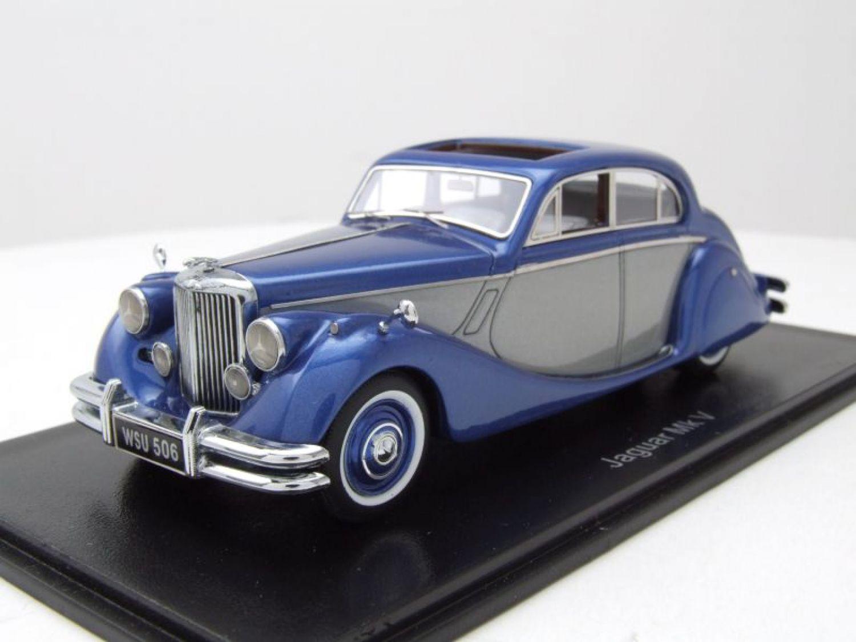 metallic-blau//silber Neo Jaguar MK V 1950-1:43 #49544