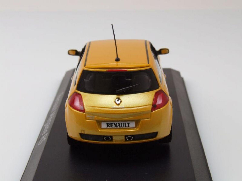 renault megane rs 2004 jaune m tallique mod le de voiture 1 43 norev ebay. Black Bedroom Furniture Sets. Home Design Ideas