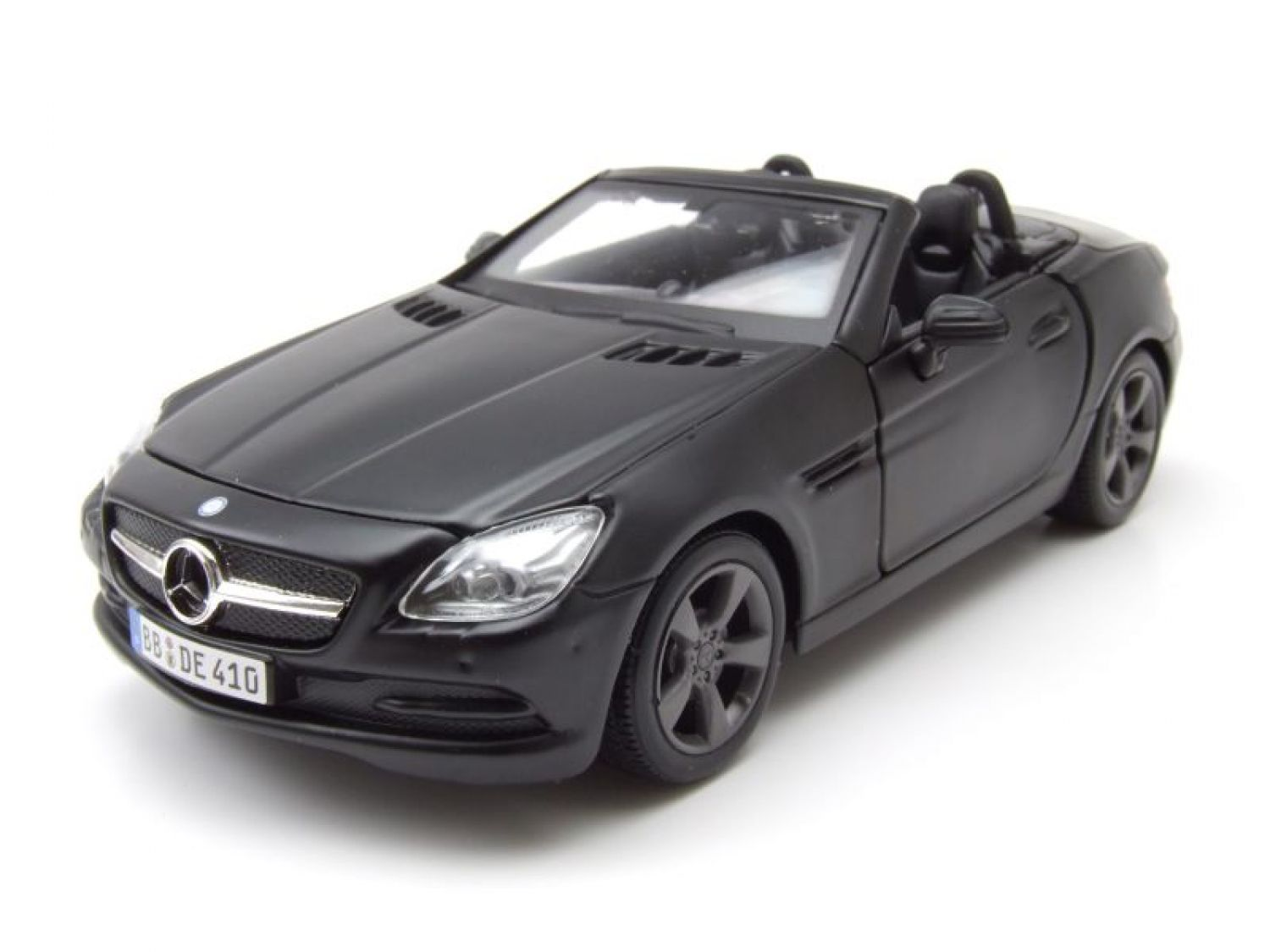 mercedes slk cabrio 2011 matt schwarz modellauto 1 24. Black Bedroom Furniture Sets. Home Design Ideas