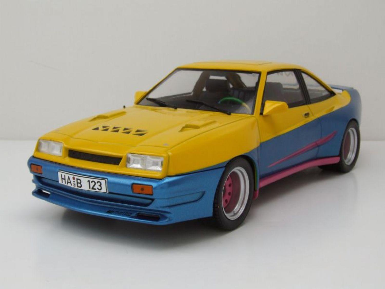 Opel Manta B Mattig 1991  gelb//blau 1:18 MCG 18095 />/>NEW/</<  Frei Haus* TOP PREIS