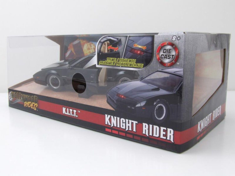 mit Scanner Modellauto 1:24 Jada Pontiac Firebird Kitt Knight Rider K.I.T.T