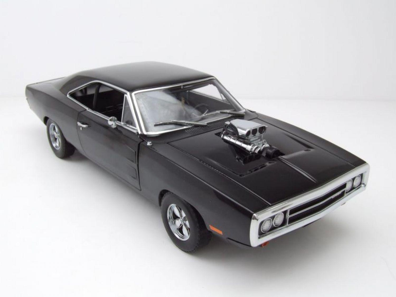 dodge charger r t 1970 schwarz fast furious modellauto 1 18 greenlight ebay. Black Bedroom Furniture Sets. Home Design Ideas