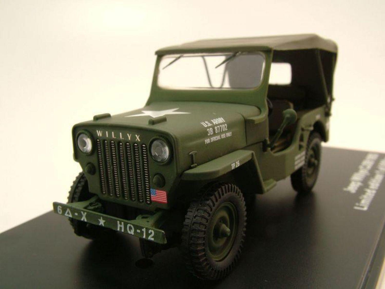 Willys Jeep CJ3B US Army Militär 1953 grün, Modellauto 1:43 ...