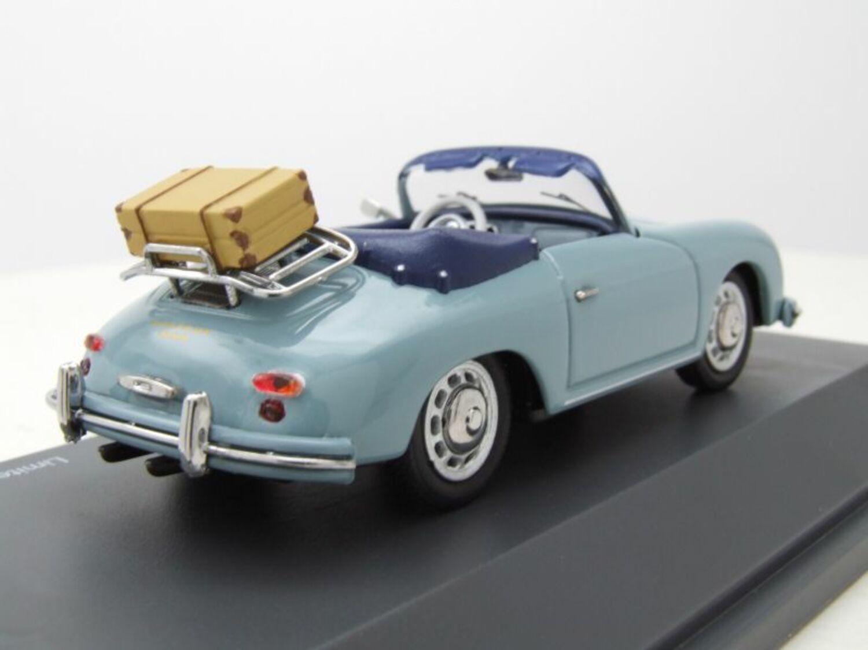 Porsche 356 A Cabrio mit Koffer 1 of 750 blau 1:43 Schuco 450258400 neu /& OVP