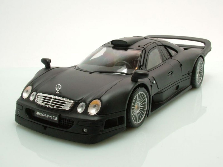 mercedes clk gtr streetversion matt schwarz modellauto 1. Black Bedroom Furniture Sets. Home Design Ideas
