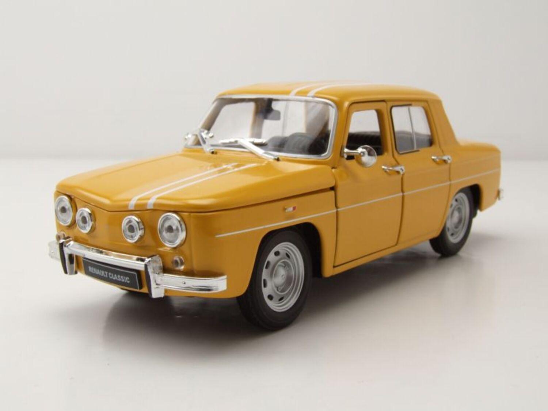Renault R8 Gordini 1964 Amarillo Coche A Escala 1 24 Welly Ebay