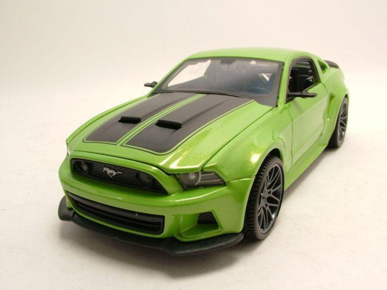 Modellauto 1:24 Maisto Ford Mustang Street Racer 2014 grün metallic