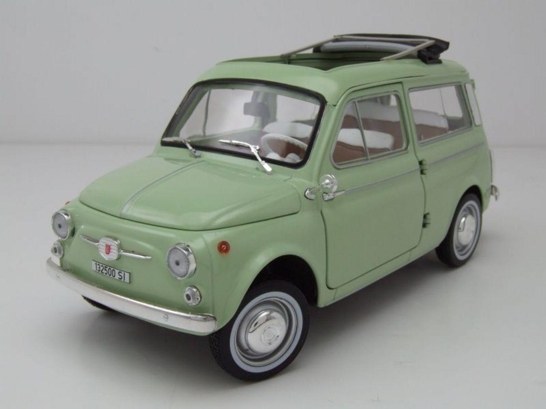 fiat 500 giardiniera 1962 hellblau modellauto 1 18. Black Bedroom Furniture Sets. Home Design Ideas